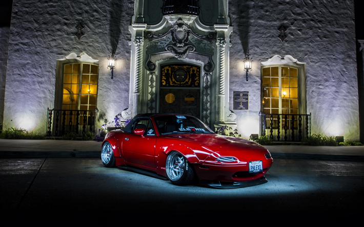 Download Wallpapers Mazda Miata Night Tuning Stance