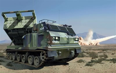 M270 MLRS, Multiple Launch Rocket System, American armored vehicles, USA