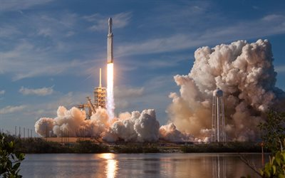 SpaceX, spacecraft, rocket launch, Cape Canaveral, Falcon Heavy, USA