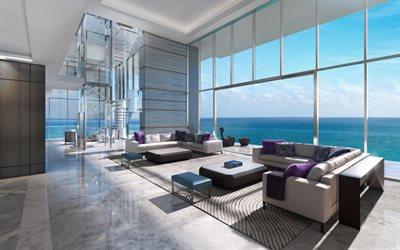 minimalist living room design modern luxury interior space | Download wallpapers luxury apartment, modern interior ...