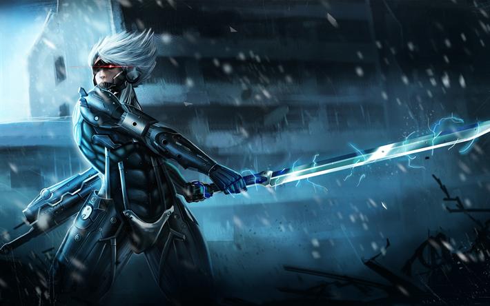 Download Wallpapers Raiden, Art, Metal Gear Rising, Action