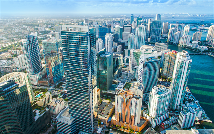 modern architecture skyscrapers. Miami, 4k, Top View, Modern Architecture, Skyscrapers, Florida, USA Architecture Skyscrapers S