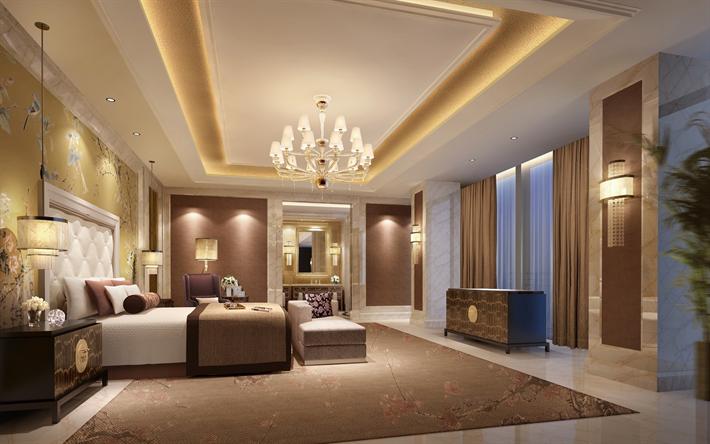 Hotel Di Lusso Interni : Scarica sfondi interni di lusso camera da letto design classico