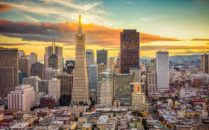 Download Wallpapers San Francisco Transamerica Pyramid