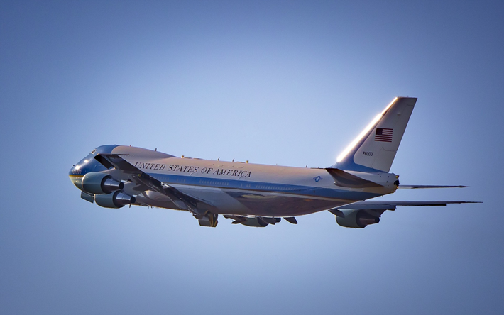 SAM 28000, Air Force One, Boeing VC-25, USAF, United States Air Force, Presidential transport, passenger plane, Boeing
