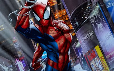 4k, Spiderman, via, supereroi, opere d'arte, della DC Comics Spider-Man