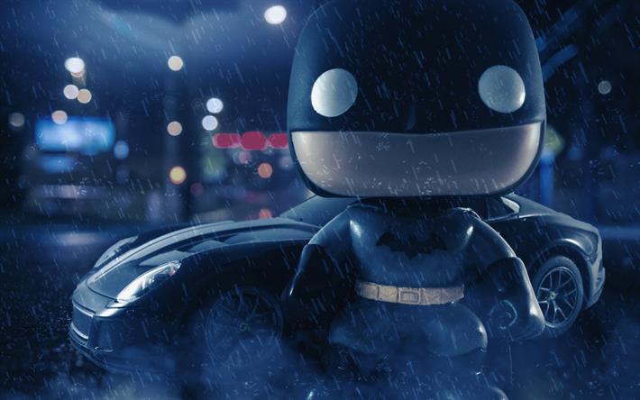 Download wallpapers 3D Batman, close-up