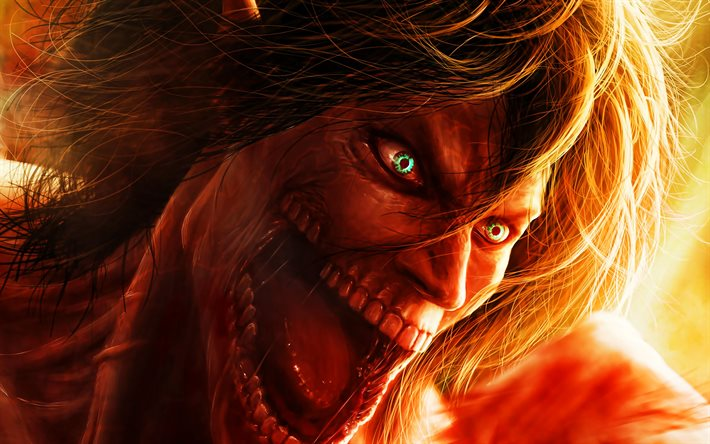 Download wallpapers Evil Eren Yeager, 4k, Attack on Titan ...