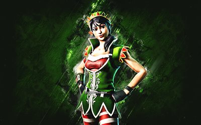 Fortnite Tinseltoes Skin, Fortnite, main characters, green stone background, Tinseltoes, Fortnite skins, Tinseltoes Skin, Tinseltoes Fortnite, Fortnite characters