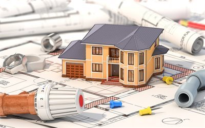 design houses, house layout, drawing, construction of houses