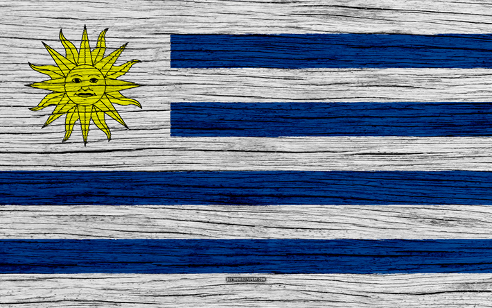 Download Wallpapers Flag Of Uruguay K South America Wooden - Uruguay flag