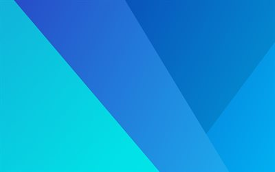 4k, material design, art, lollipop, geometric shapes, creative, android, geometry, blue background