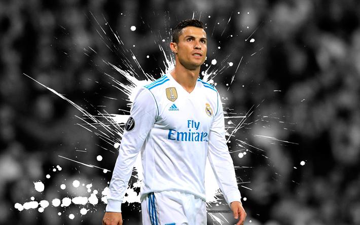 Scarica Sfondi 4k Cristiano Ronaldo Grunge Stelle Del Calcio Di