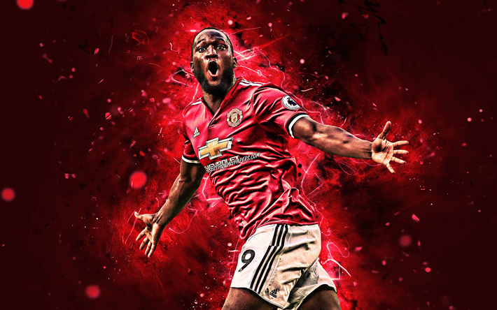 Download Wallpapers 4k, Romelu Lukaku, Goal, Manchester
