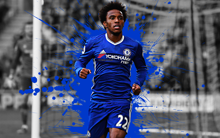 Download Wallpapers Willian, 4k, Brazilian Football Player