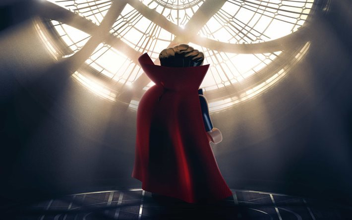 Doctor Strange, 4k, superhero, 3d-animation, The Lego