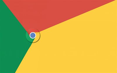 Chrome, multicolored abstraction, logo, emblem, internet browser, Google Chrome