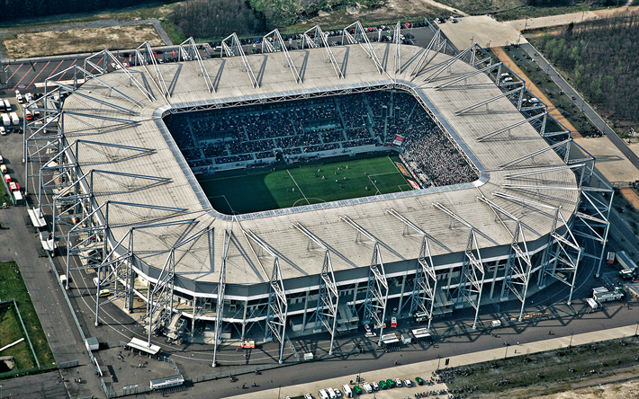 Download Wallpapers Borussia Park Monchengladbach Germany Borussia Monchengladbach Stadium Bundesliga German Football Stadium Top View For Desktop Free Pictures For Desktop Free