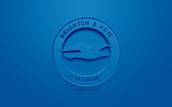 Download Wallpapers Brighton Hove Albion FC, Creative 3D