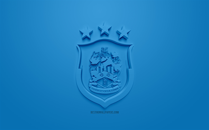 Download Wallpapers Huddersfield Town FC, Creative 3D Logo
