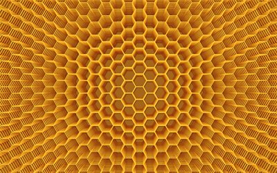 3d yellow honeycomb texture, 3d honeycomb background, honeycomb texture, 3d honey texture, 3d hexagons texture, yellow hexagons background