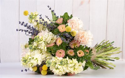 bouquet of flowers, beautiful flowers, carnations, lavender, aster