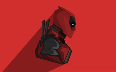 4k, Deadpool, minimal, superheroes, DC Comics