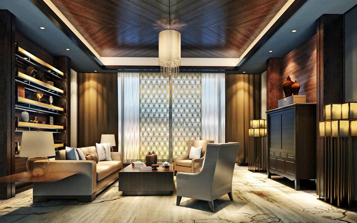 Salotto Moderno Elegante : Scarica sfondi elegante interno scuro soggiorno laminato sul
