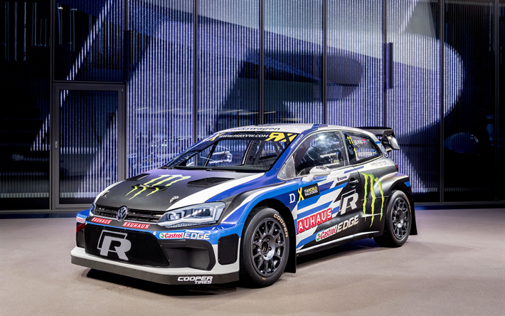 download wallpapers volkswagen polo r 2018 wrx fia. Black Bedroom Furniture Sets. Home Design Ideas