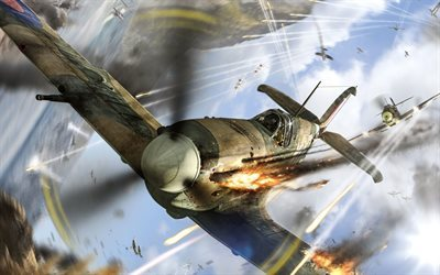 World of Warplanes, WoWp, Supermarine Spitfire, British fighter