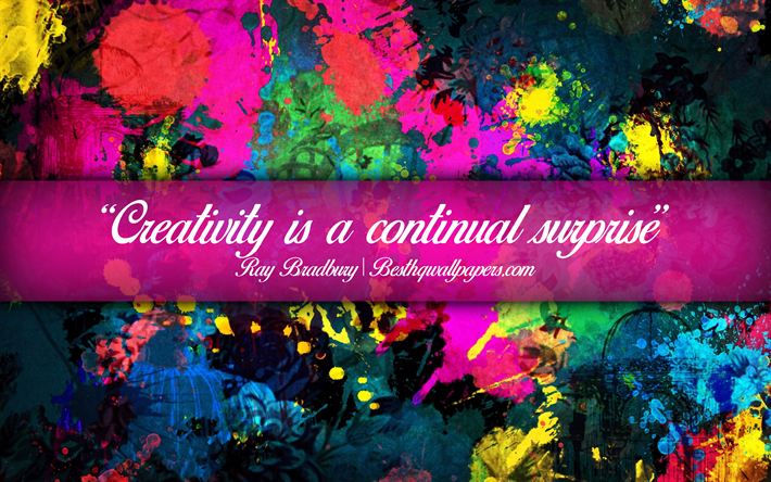 Download Wallpapers Creativity Is A Continual Surprise Ray