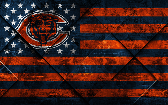 Download Wallpapers Chicago Bears 4k American Football