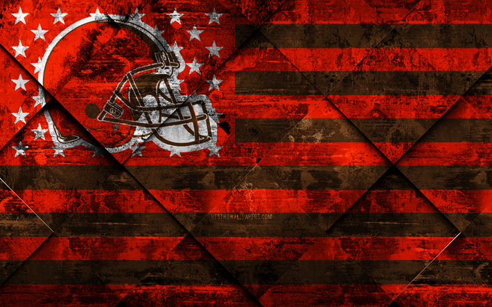 Download Wallpapers Cleveland Browns, 4k, American