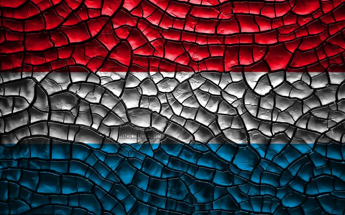 Scarica Sfondi Bandiera Del Lussemburgo 4k Rotto Il Suolo L