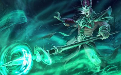 Karthus, darkness, MOBA, League of Legends characters, warrior, monsters, League of Legends