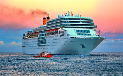 Costa Romantica, sea, HDR, cruise ships, Costa Crociere, Costa Romantica Ship