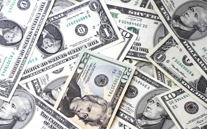 Download wallpapers american dollars, money background