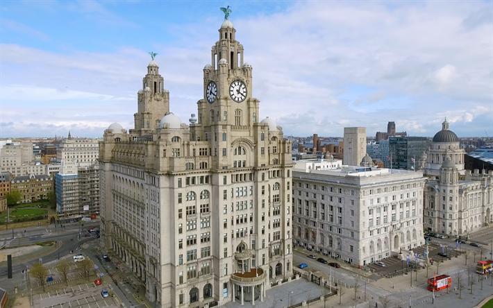 Download Imagens Royal Liver Building Liverpool Cidade Inglesa Marco Inglaterra Reino Unido Paisagem Urbana Capela Gratis Imagens Livre Papel De Parede