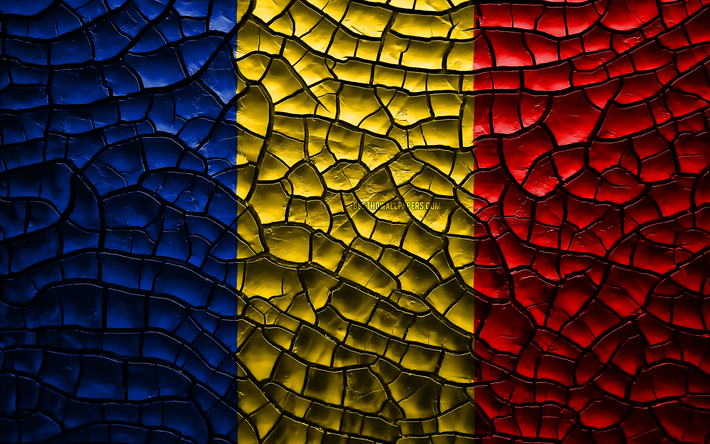 Download Wallpapers Flag Of Romania 4k Cracked Soil