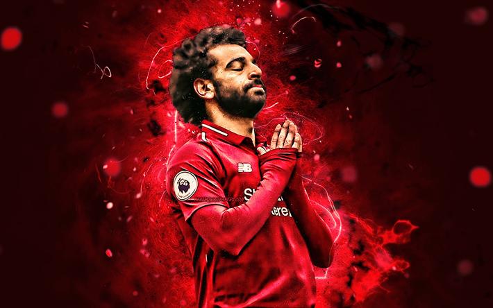 Download Wallpapers Mohamed Salah, Goal, Liverpool FC