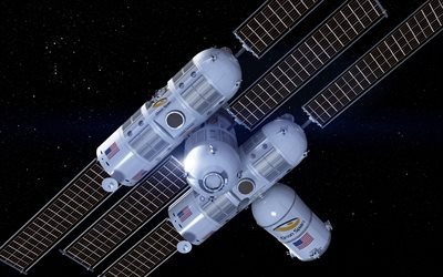 Orion Span, Aurora Space Station, american space station, 3d space station, free space, USA