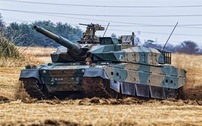Type 10, Japanese MBT, tanks, armored vehicles, Japanese Army, Hitomaru-shiki sensha, fighting machine, battle tanks, Type 10 Hitomaru