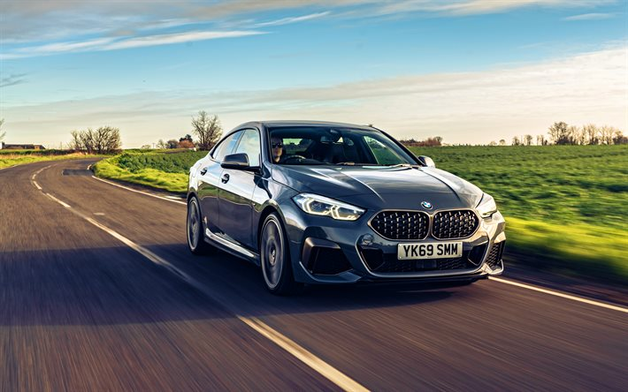 BMW M235i xDrive Gran Coupe, 4k, road, 2020 cars, F44, UK-spec, 2020 BMW 2-series Gran Coupe, german cars, BMW