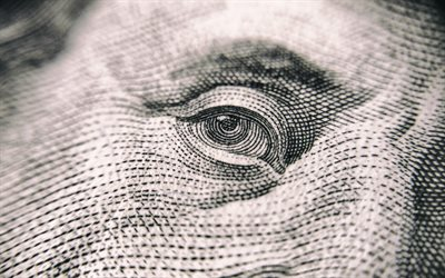 Eye, Benjamin Franklin, dollar bill, US dollars, american dollars, banknotes