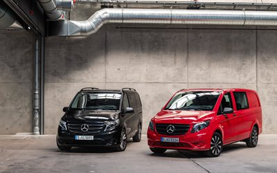 Mercedes-Benz Vito, 4k, plant, minibuses, 2020 cars, W447, 2020 Mercedes-Benz Vito, german cars, Mercedes