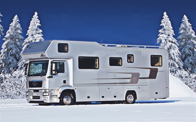 Vario MAN TGM 15-290 Alkoven 950, campervans, 2021 buses, campers, HDR, travel concepts, house on wheels, Vario