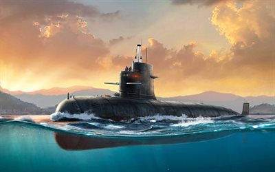 Song-class submarine, Type 039 submarine, Peoples Liberation Army Navy, Chinese submarine, PLA Navy, painted submarine
