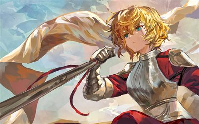 Joan of Arc, artwork, TYPE-MOON, Fate Grand Order, manga, Jeanne d Arc, Alter, Fate Apocrypha, Avenger, Fate Series