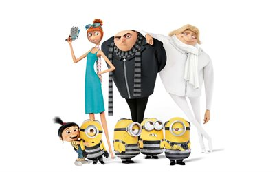 Despicable Me 3, Dru, 2017, minions, animated movie