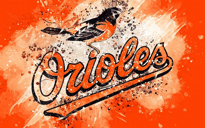 Baltimore Orioles, 4k, grunge art
